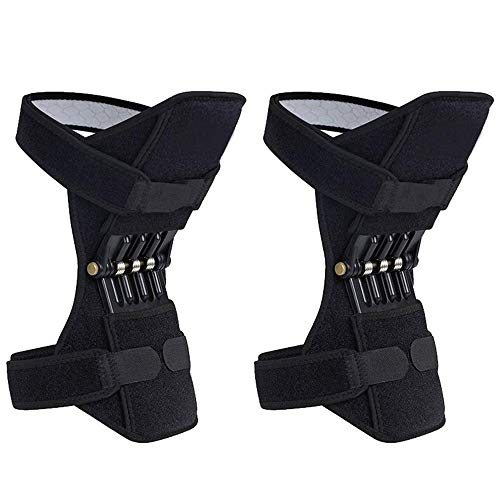 BIMZUC Power Knee Brace Joint Support, Power Knee Stabilizer Pads, Protective Gear Booster with Powerful Springs for Men/Women weak Legs, Arthritis, Meniscus Tear Pain, Fitness and Sports