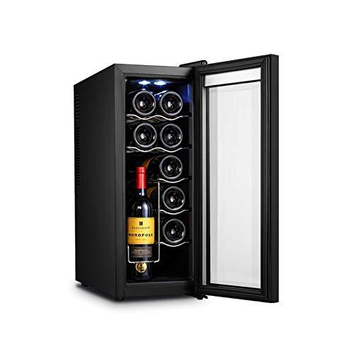MINGDIAN Enfriador de Vino de 12 Botellas, Enfriador de Vino con compresor Independiente con Control de Temperatura Digital para Vino Tinto/Blanco, champán y más