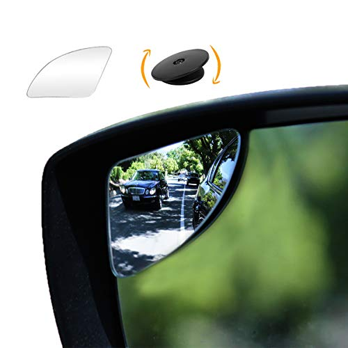 """""""SuperFan"""" Blindspot Mirror by Safe View Company - Safer Lane Changes, Frameless HD Glass Convex, Seamlessly Contours to Your Car Side Mirror, Easy Installation (80x45mm) (2Pack)"""