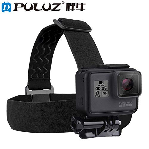 Rabusion Hot for PULUZ Waterproof Head Band Mount Adjustable Elastic Head Band Strap for GoPro Hero 5 4 Session 3+3 2 1