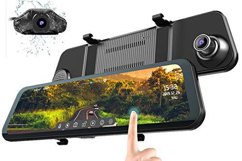 Mirror Dash Cam Front and Rear Backup Camera AZDOME Car Dash Cam...