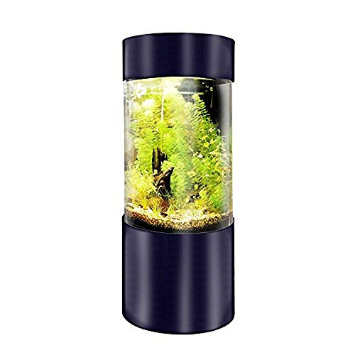 Full Acrylic 360 Cylinder Aquarium Tank w/Black Trim 25 Gallons,...