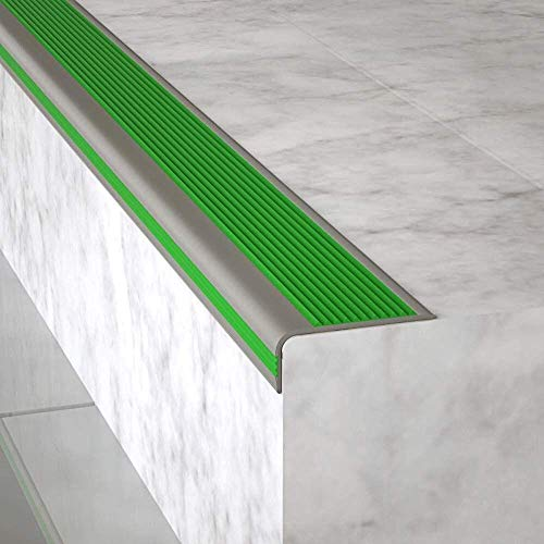 Moldura autoadhesiva antideslizante para borde de escalera - Tira de esquina de escalera antideslizante impermeable y a prueba de humedad para azulejos,madera maciza,escaleras de mármol (1 m)(negro)