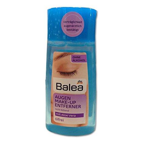 Balea Augen Make-Up Entferner flüssig mit Aloe Vera, ölfrei (100ml Flasche)