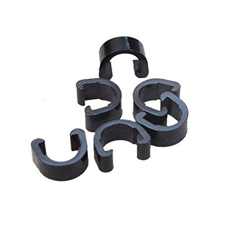 hunpta 10 piezas de bicicleta bicicleta MTB C-Clips hebilla manguera de freno cable guía (negro)
