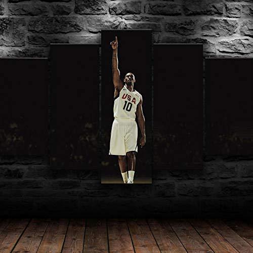 SESHA Póster De Lienzo 5 Piezas HD Arte De La Pared Impresa Decoración Dormitorio El Hogar Pintura De La Lona Foto El Baloncesto Americano De Kobe