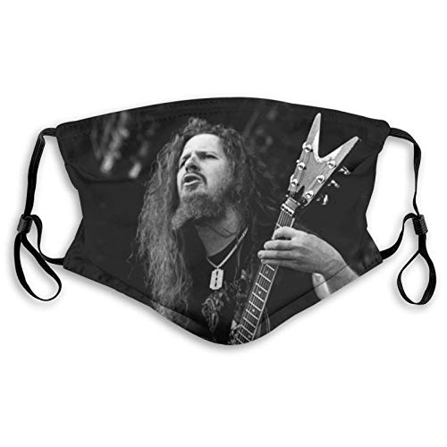 Dimebag Darrell Dr Phil Fashionable Dust-Proof Mask with Filter, Reusable Wind-Proof Protective Mask Medium Black