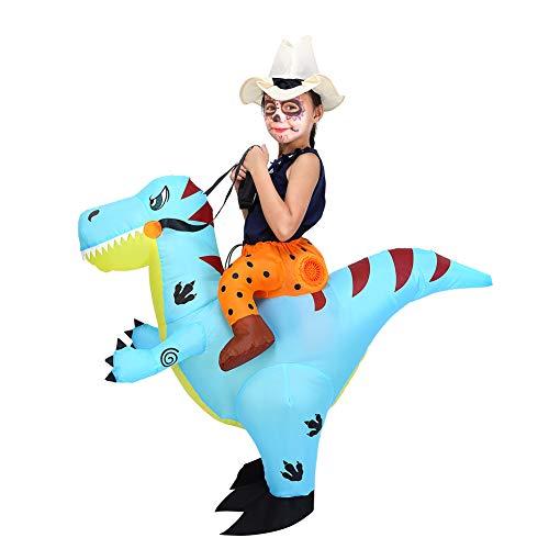 ThinkMax Aufblasbares Kostüm Dinosaurier für Kinder, Halloween Kostüm für Cosplay-Party