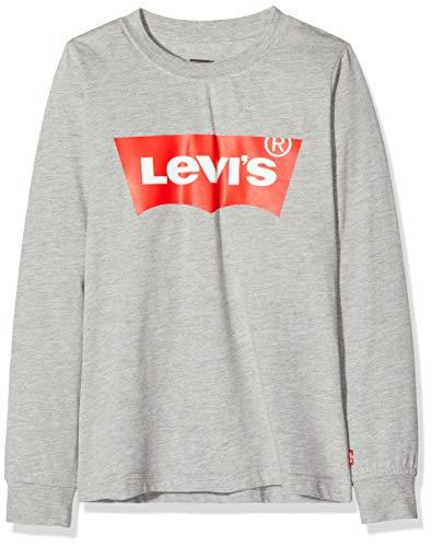 Levi's Kids Lvb L/S Batwing Tee Langarmshirt - Jungen Grey Heather 10 Jahre