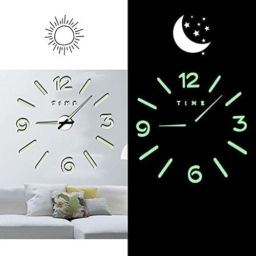 Reloj de Pared DIY,Barber Pole Art Shears Salón de Belleza DIY Reloj de Pared,Peluquería sin Marco de Plástico Peluquería Relojes de Pared Grandes
