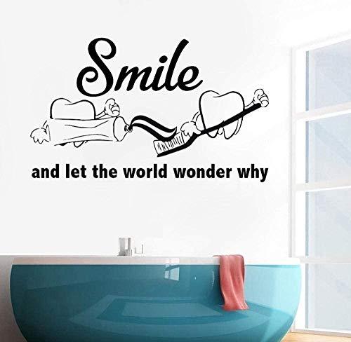Muursticker wandafbeeldingen muurtattoo badkamer raam tandarts tandgereedschap Home slaapkamer kinderen tandkliniek 92X56 cm