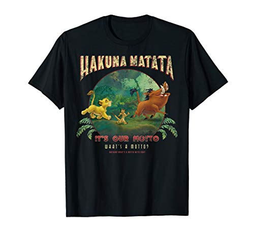 Disney The Lion King Hakuna Matata It's Our Motto Group Shot T-Shirt