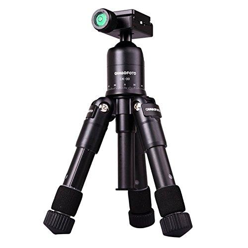 Ocamo M225 Mini statief met kogelkop, draagbare klep aluminiumlegering statief voor digitale camera's, camcorders en mini-projector-zwart
