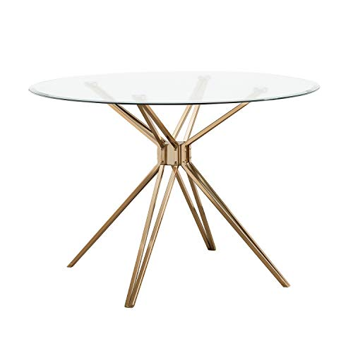 Southern Enterprises Atticus Dining Table, Gold