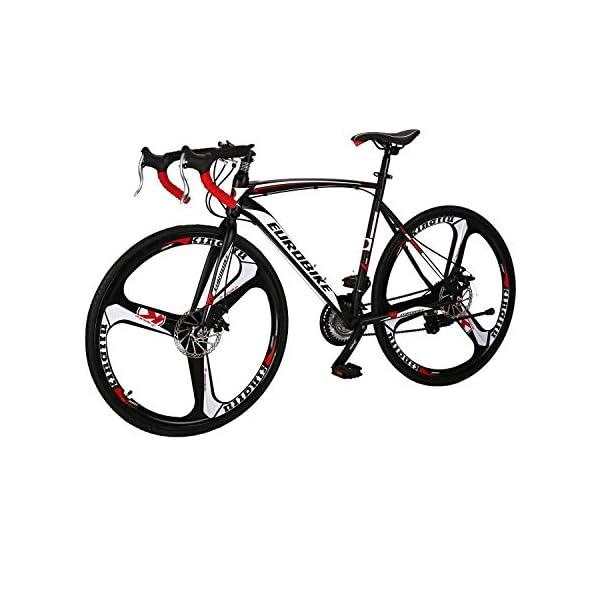 Road Bikes LZBIKE Road Bikes XC550 Steel frame road bike Front and rear disc brake road bike 21 speed [tag]