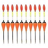 10 Unids/Set Flotador de Pesca Bobber Balsa Set de Madera Bobbers de Pesca Selección Accesorios de Pesca multipropósito(Naranja)