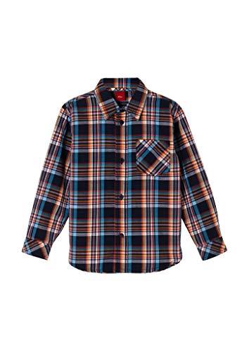 s.Oliver Junior Jungen 404.10.103.11.120.2060699 Hemd, Blue Checks, 116/122
