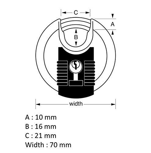 MasterLock Excell Discus 4 Digit Combination 70mm Padlock