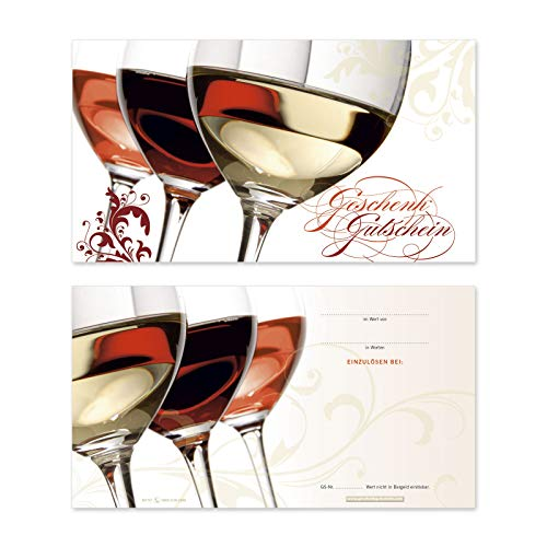 50 hochwertige Gutscheinkarten Geschenkgutscheine. Gutscheine für Wein und Sekt Spirituosen. Vorderseite hochglänzend. W1701