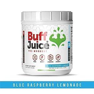 Pre Workout Powder Energy Drink (30 Servings) – Caffeine Free Preworkout Supplement High-Performance Formula with Beta Alanine, Creatine, L-Citrulline, B-Vitamin Complex (Blue Raspberry Lemonade)