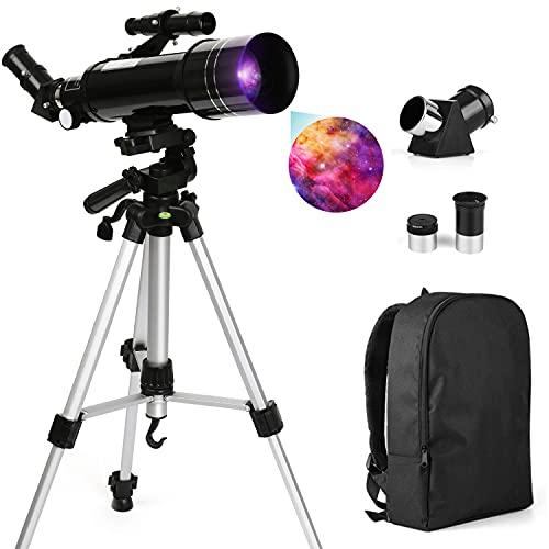 Telescopio Astronomico - 300/70mm Nero Telescopio Rifrazione con...