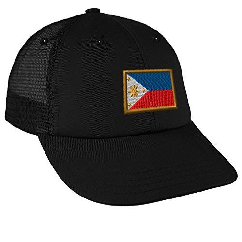 Speedy Pros Philippines Embroidery Design Low Crown Mesh Golf Snapback Hat Black