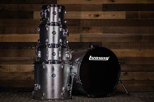 """Ludwig 5 Piece Accent""""Drive"""" Drum Set (Silver Foil)"""