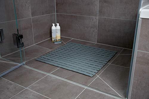 WENKO tapis de douche Arinos, tapis de douche, tapis de bain, tapis antidérapant,