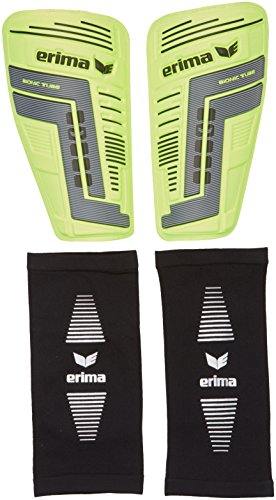 erima Schienbeinschoner Bionic Tube 2.0, Neon Gelb/Anthrazit, XL, 721502