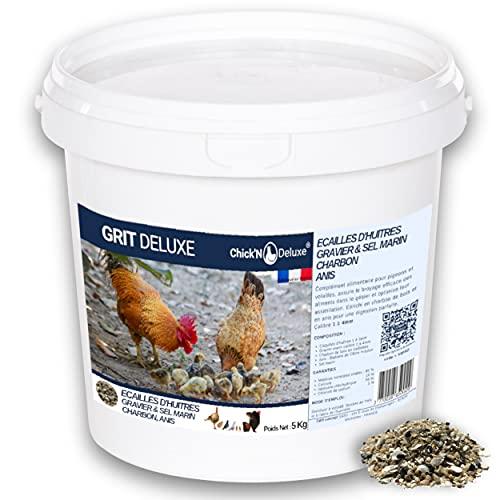 Chick N Deluxe GRIT DELUXE 5Kg. Integratore alimentare per piccioni pollame. Miscela di minerali, carbone attivo e arricchita con anice per una perfetta digestione. Rafforza il guscio d uovo.