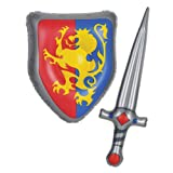 Inflatable Sword & Shield Set Party Accessory (1 count) (1/Pkg)