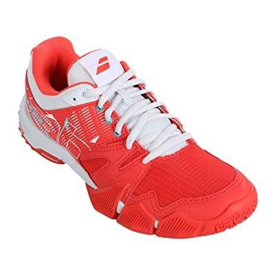 BABOLAT PULSA Women, Zapatillas de Tenis Mujer, Hibiscus/White, 38 EU
