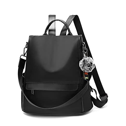 OUSIMEN Mochila Mujer Antirrobo Nylon Casual Bolsa Impermeable Bolso de Viaje Messenger Bag Backpack