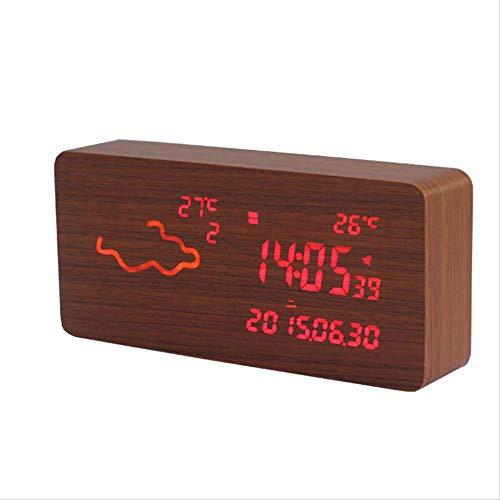 GUO Smartwatch, digitaal, met airco en radiowekker, wifi, nachtlampje, hoofd, bed, klok, stil