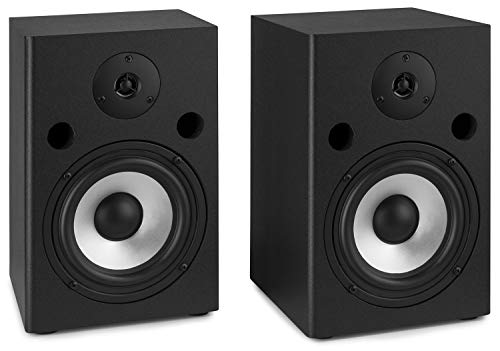Vonyx SM65 Set di Casse Monitor da Studio - 2 Vie, Potenza: 180 Watt...