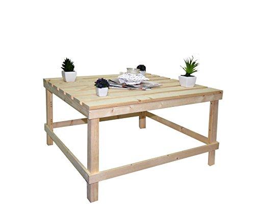 Rebecca SRL Tavolo Tavolini da Salotto Pallet Legno Pino Naturale Arte Povera Rustico Soggiorno (cod. R20150804)