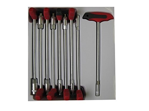 Steckschlüsselsatz 9 Teilig T-Griff Steckschlüsselset 6-14 MM Steckschlüssel