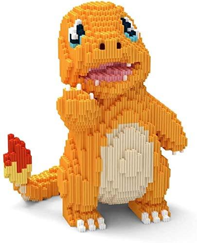 Bloque de construcción, Bloque de construcción modelo del bloque hueco 2157 + Pcs Anime Mini bloques de juguetes de DIY, pequeño dragón del fuego 3D Puzzle bricolaje juguete educativo, adecuado for ni