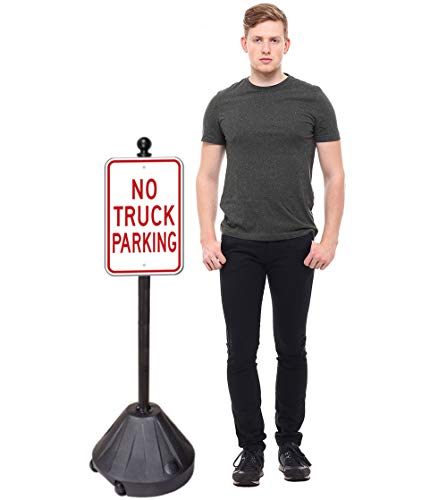 PP2 Tip'n Roll Portable Sign Pole - Black 48""