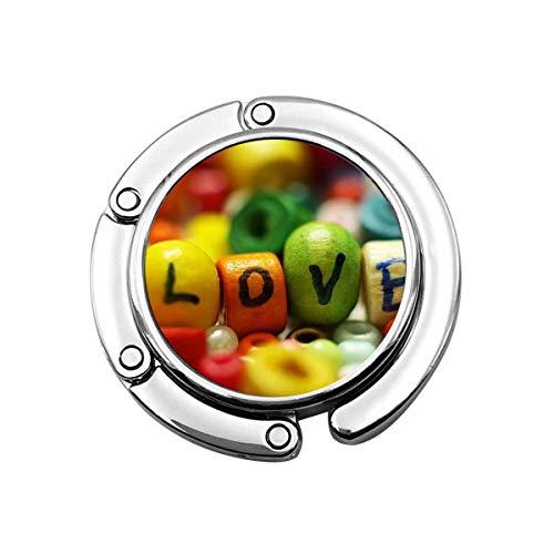 Deliciosos Caramelos de Amor de Colores, Perros, Gatos, Divertido Vistazo, Gancho para Monedero Plegable, Perchas para Bolso, Gancho de decoración para Mesa