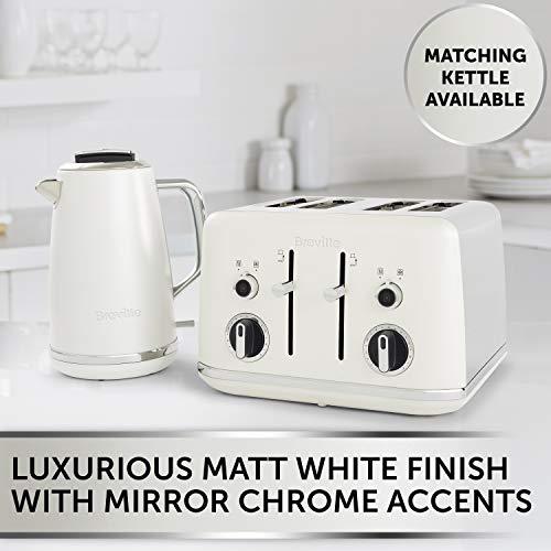 Breville Lustra 4-Slice Toaster Matt White [VTT970]