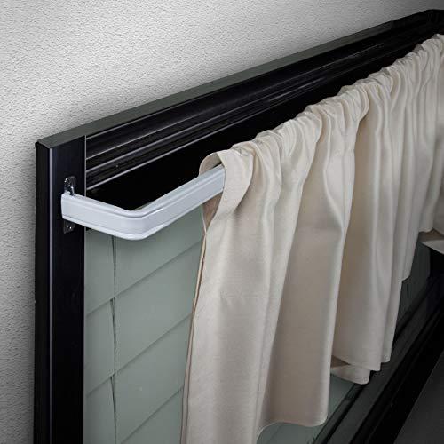 "Rod Desyne KBX3018 Lockseam 3"" Curtain Rod, 18-28 inch, White"