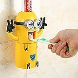 Dispensador automático de pasta de dientes con soporte para cepillos, diseño de Minion de la película 'Gru, mi villano favorito'