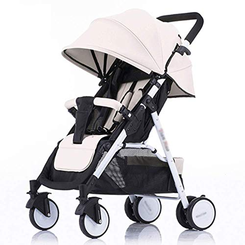 Read About Hot mom-Portable Baby Stroller-Can Sit and Lie Down and Fold Four-Wheeled Baby Carriage S...