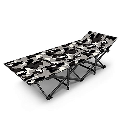 UCYG Cama Canapé Abatible Plegable para Invitados,Armadura De Metal Butaca Sofa con Colchón 1 Plazas para Camping Piscina Jardín, 200 Kg De Carga, 190 X 67 X 35 Cm (Color : 1)