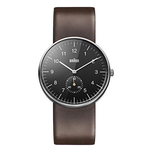 Braun BN0024BKBRG - Reloj analógico de caballero de cuarzo con correa de piel