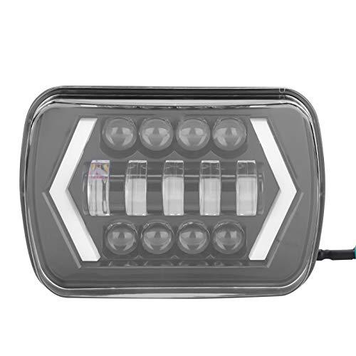 Fydun Phare Led para Cherokee 7'Faros LED de Coche Halo Drl Bombillas de lámpara Faros Cuadrados para Wrangler 1996-2017