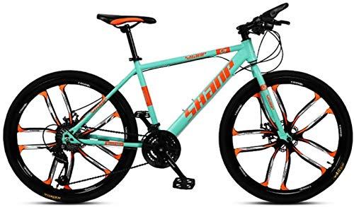 """HCMNME Bicicleta Duradera, Bicicletas de montaña, 24""""26"""" Bicicleta de montaña 21 Velocidad Bicicleta Delantera y Trasera Amortiguador Mountain Bike Cross Country Bicycle Adult BMX Cuadro de"""