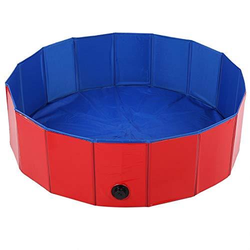 FEBT Bañera para Mascotas, bañera Duradera portátil para Gatos de PVC, práctica para Perros, Gatos(Red, Small)