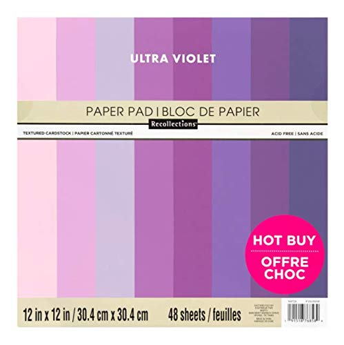 ULTRA VIOLET by Recollections & by Craft Smart (Same Paper) 12' X 12' Cardstock Paper pad Acid Free